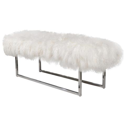 Long Furry Bench