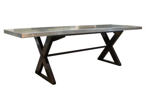 Custom Steel X-Base Table