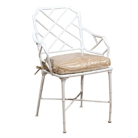 Metal Bamboo and Zebra Chairs