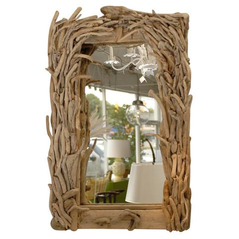 Antique Driftwood Mirror
