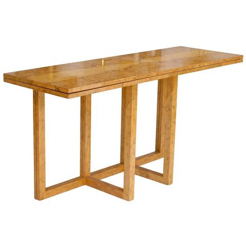 Convertible Burl Wood Table