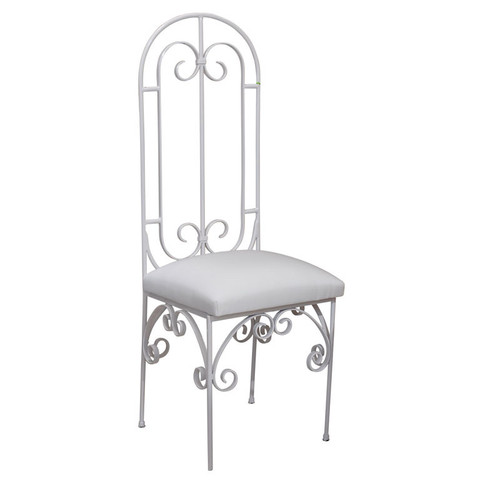 Scroll Back Metal Chair
