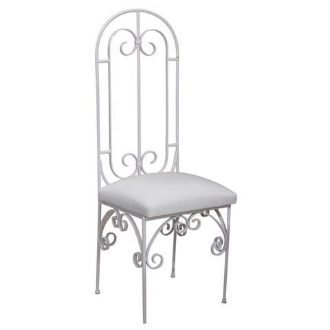 Scroll Back Metal Chair