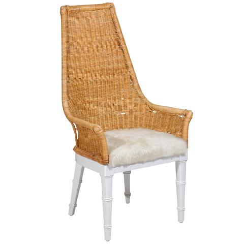 Wicker & Hide Chair