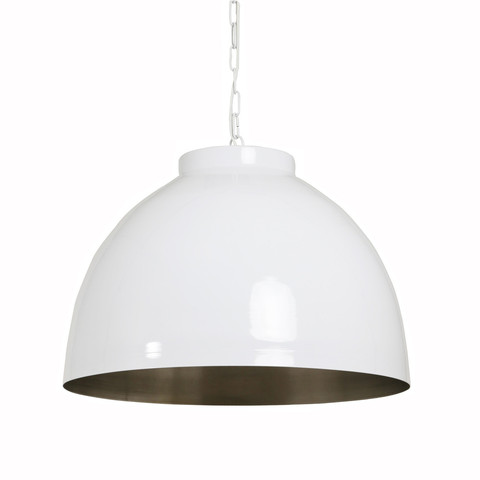 White Dome Pendant