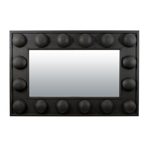 Chunky Wood Ball Mirror