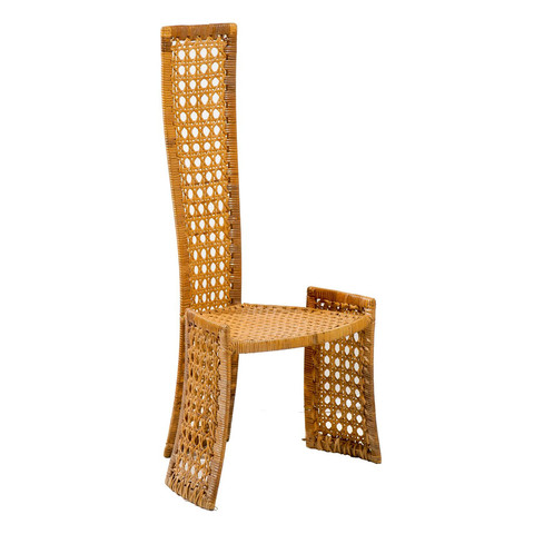 Rattan High Back Side Chair