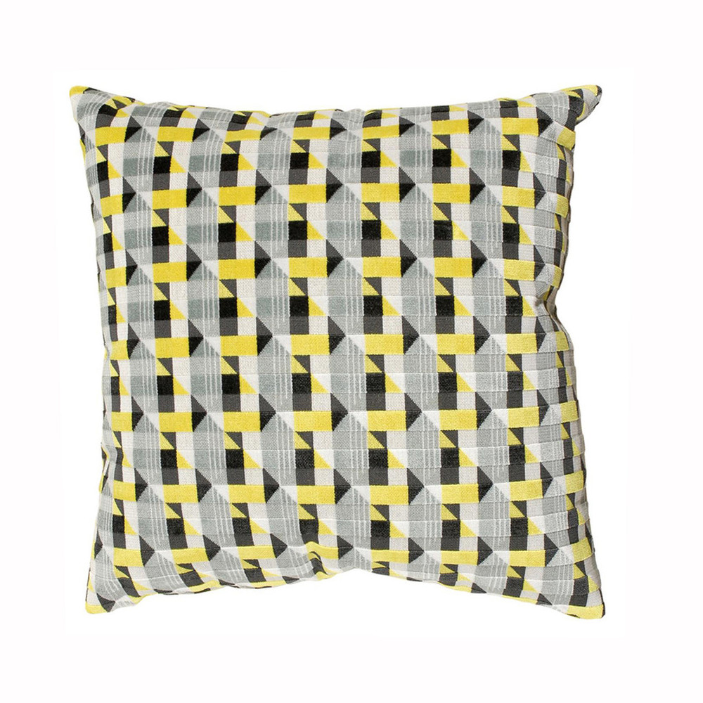 Geometric Yellow Pillow