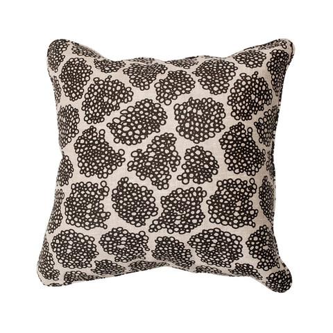 Brown Doodle Pillow
