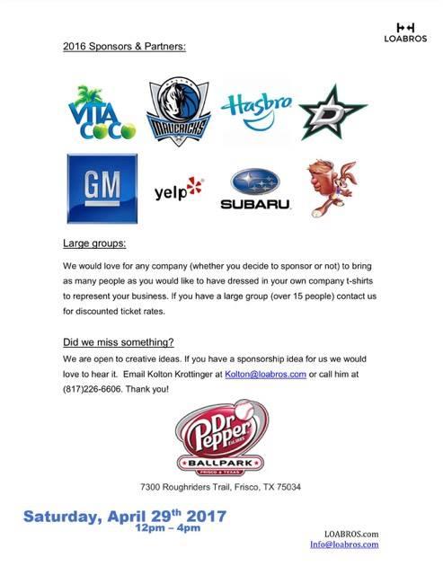 Worlds Largest Dog Day Sponsorship Info