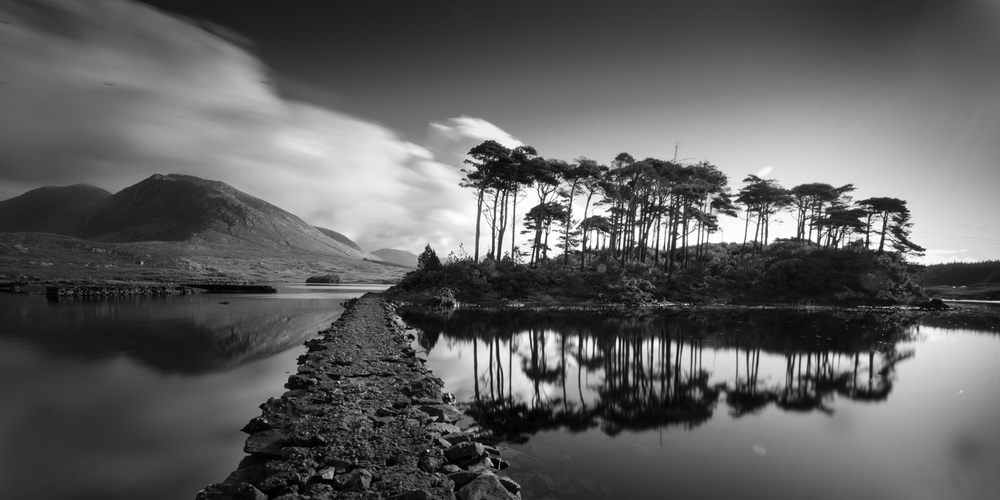 Derryclare Lake  - Derryclare Lough, Pine island , Connemara