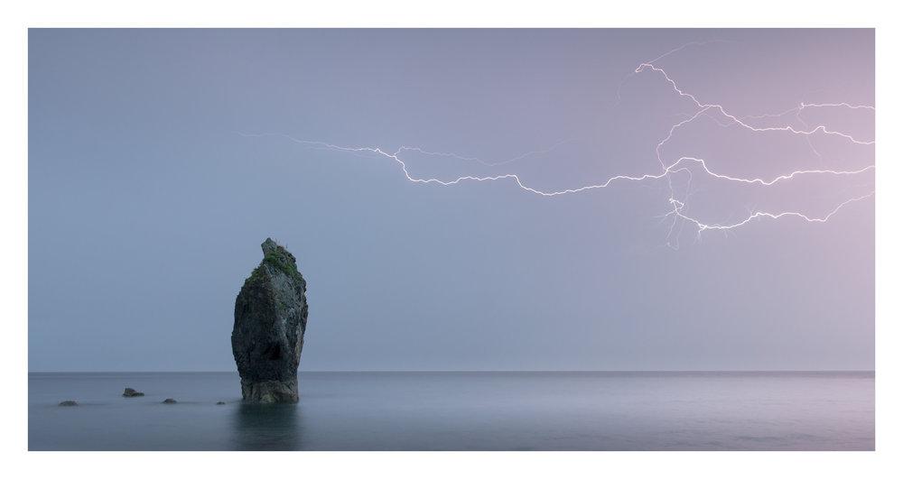 ballydowane beach lightning