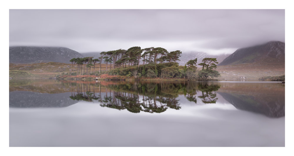 Derryclare Lough and Pine island in Connemara