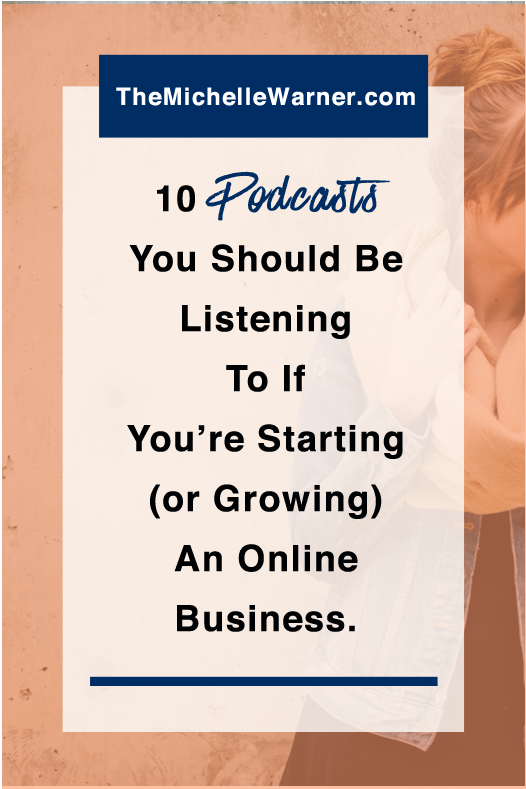 Podcasts are one of my favorite ways to stay on top of what's new in the online business and blogging world, and to find inspiration and community. Click through to see which are my favorite 10 shows.