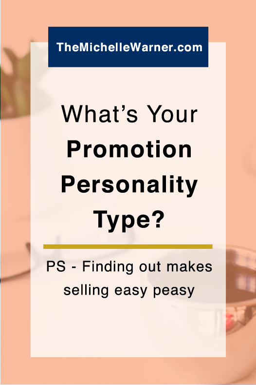 What's Your Promotion Personality Type? | Almost every blogger and online business owner I talk to struggles at one time or another with how to promote herself. Let's face it, it can be awkward. But what if you knew your promotion personality type, and designed your promotions around what makes sense for you instead of what everyone else is doing? Just click through to learn all about the 3 Promotion Personality Types and how to find yours!