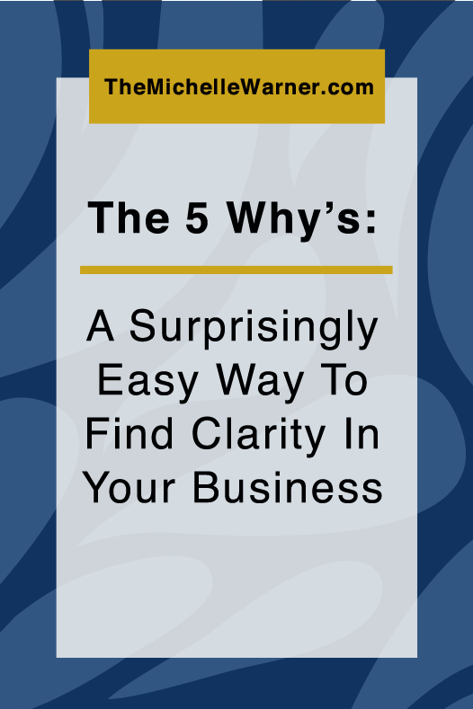 All over the place when it comes to finding clarity of what you want for your online business? Click through to find a (surprisingly) easy way to get to the clarity you've been seeking.