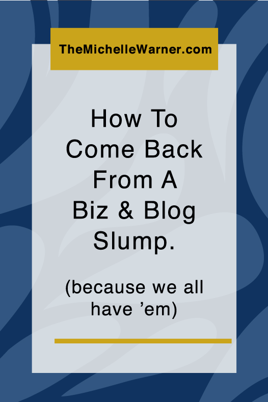 Bloggers and entrepreneurs fall into slumps all the time. We talk a lot about how to use self care to get out of a slump, but we don't talk as often about how to jumpstart yourself once you're feeling better. Click through to get 10+ ideas on how to jumpstart your brain when you're ready to get to work again. (and if you've been struggling with burnout and lack of motivation this post is for you!)