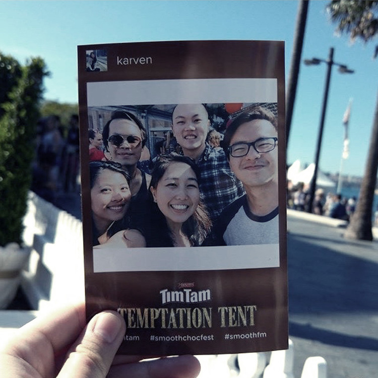 Tim Tam Temptation Tent.