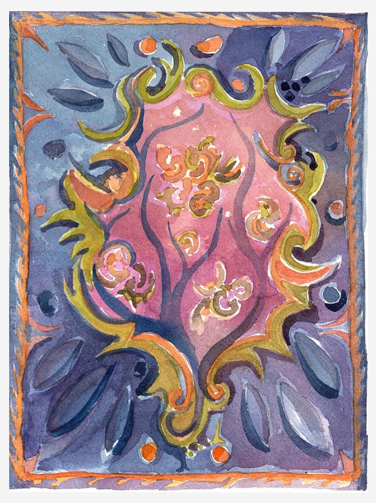 7 - Original Watercolor on paper by Joe Ginsberg - Artwork name Cavelier.jpg