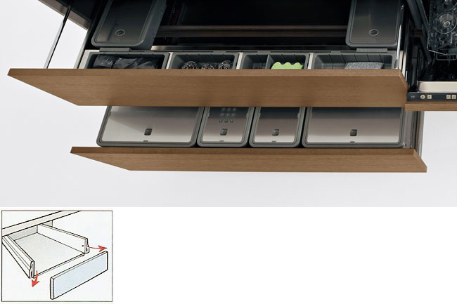 removable drawer fronts