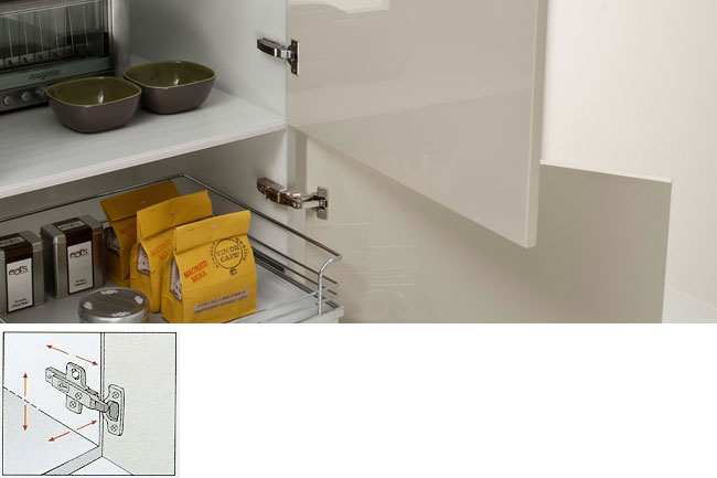 BLUM 3-way adjustable hinges