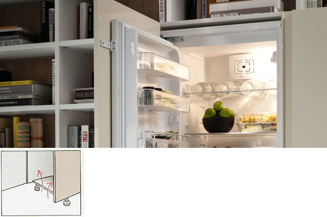 integrated fridge ventilation