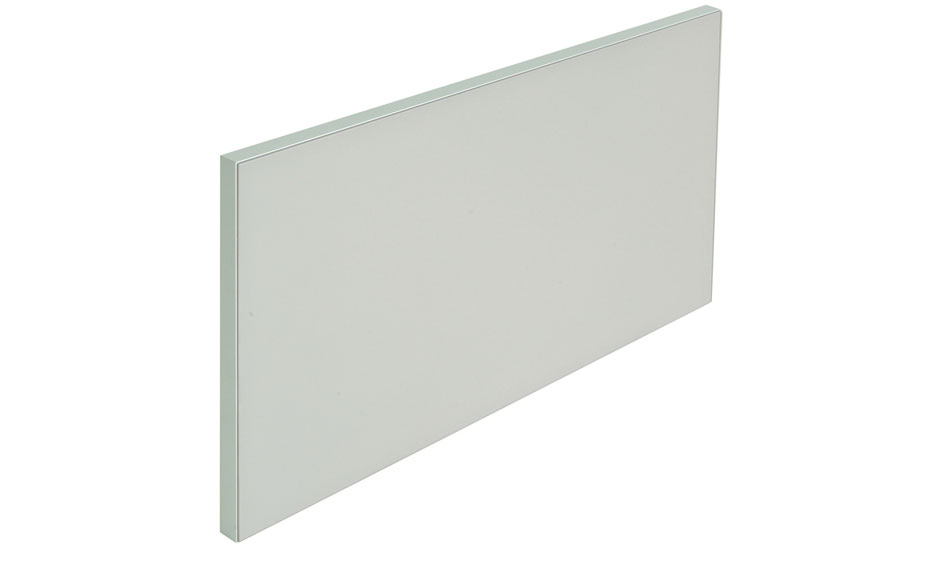 Lacquered glass door with anodized aluminum and matt lacquered frame options. Multiple glass color options available.