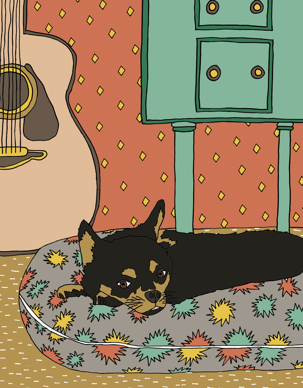 custom portrait illustration nina dog pet cat nicole stevenson studio.jpg