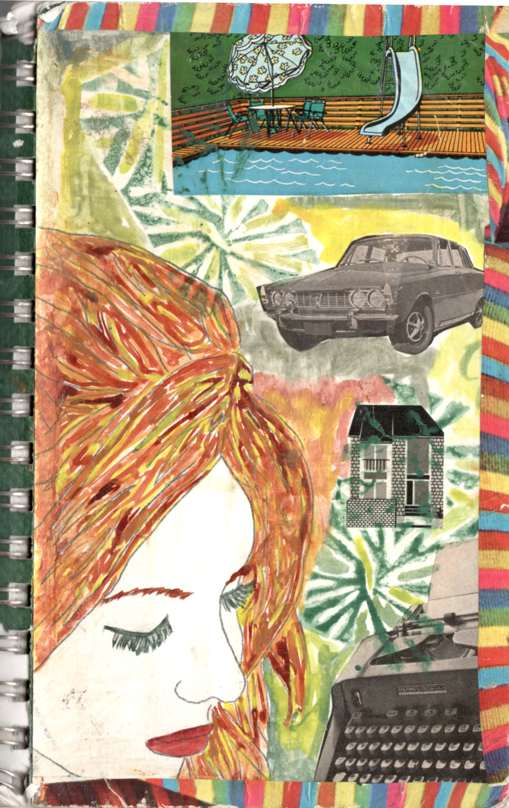 lady face cover mixed media collage nicole stevenson studio.jpg