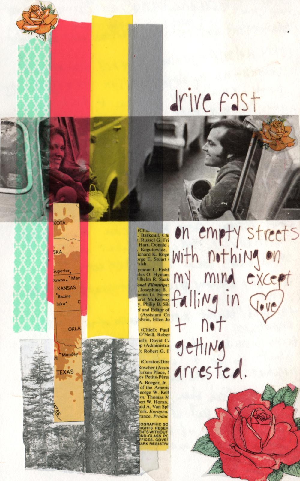 drive fast mixed media collage nicole stevenson studio.jpg