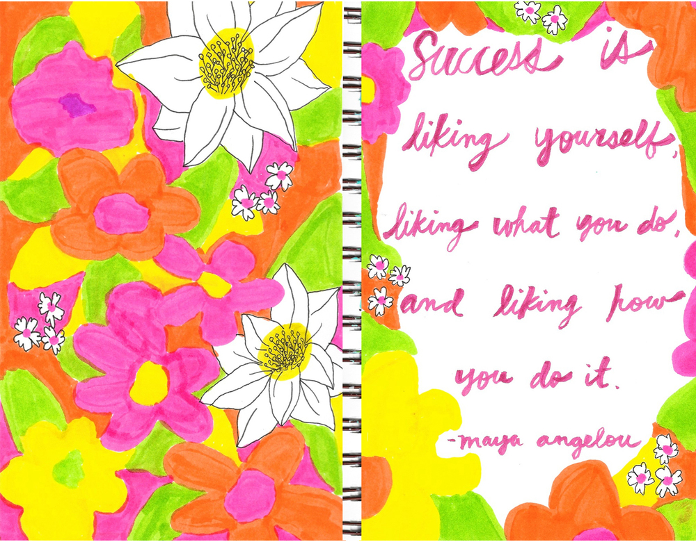 success is liking yourself flowers drawing illustration nicole stevenson studio.jpg