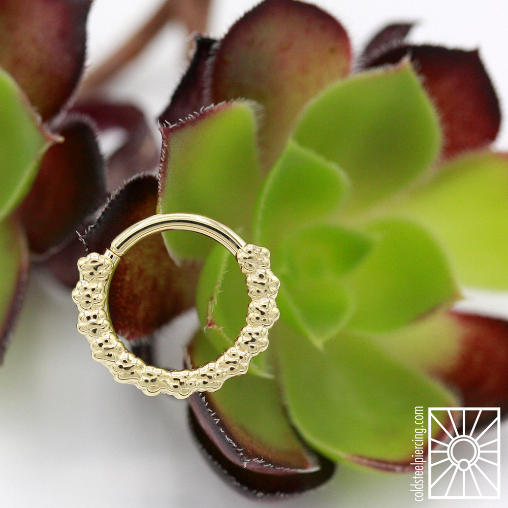 "Beautiful solid Yellow Gold ""Milo"" continuous ring from Body Vision Los Angeles."