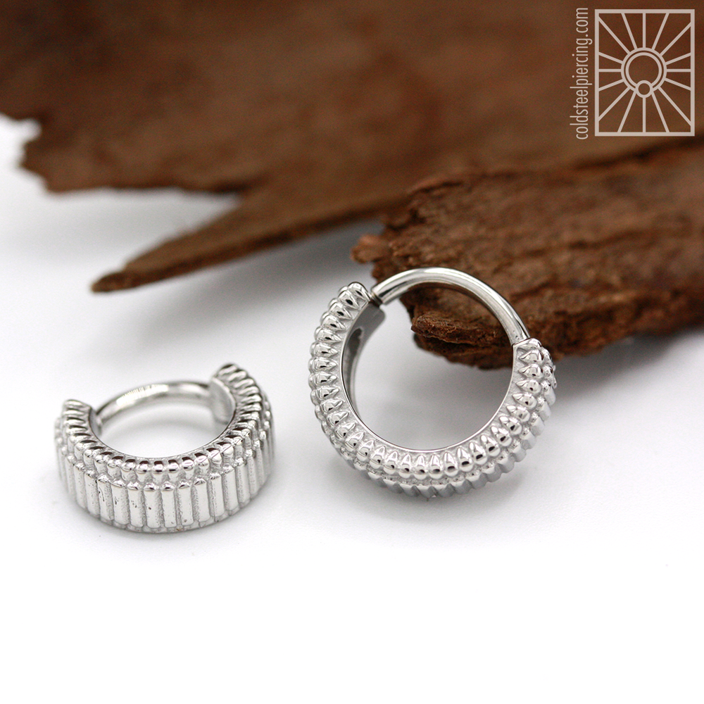 "The ""Double Eclipso"" steel hinged ring from Tether Jewelry - a great choice for those that enjoy a more substantial, chunky look!"