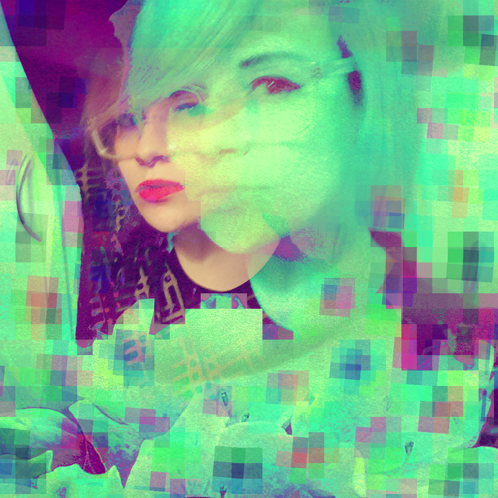 Faux Glitch Self Portrait