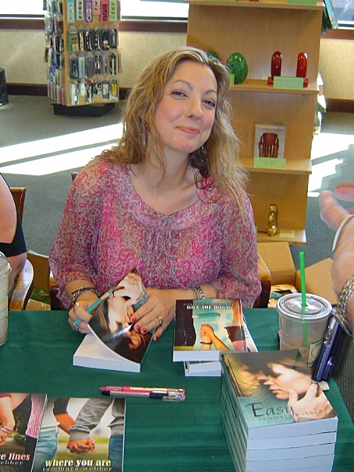"My very first book signing. This may or may not have been the face I made after the ""Tracy"" oops."