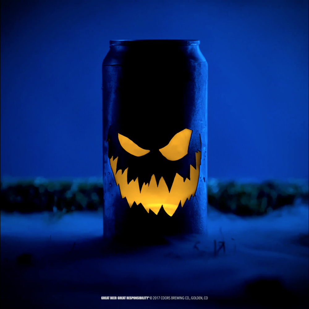 "Coors Light, Social - Halloween ""Can-O-Lantern"" Design + Fabrication"