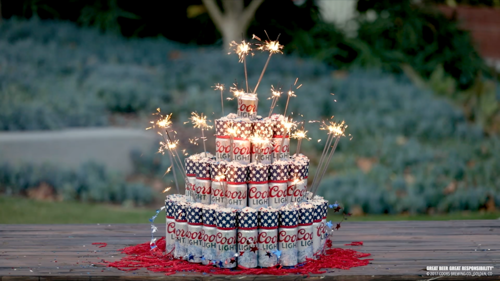 Coors Light, Social - Beer Cake 4th of July Design + Fabrication