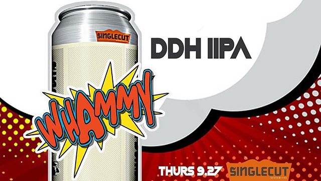 Coming soon from @singlecutbeer, WHAMMY DDH DIPA. Look for this tropical dankness to be hitting shelves the week of October 1st! . . . #singlecut#ipa#clevelandbeer