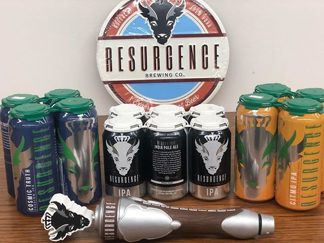 We are proud to announce that @resurgencebrewingco has arrived in Ohio via Buffalo, NY!  Resurgence IPA, CitMo NEIPA, and Cosmic Truth Session IPA will be hitting shelves and taps starting Monday! . . . #resurgencebrewery#clevelandbeer#beer#billsmafia