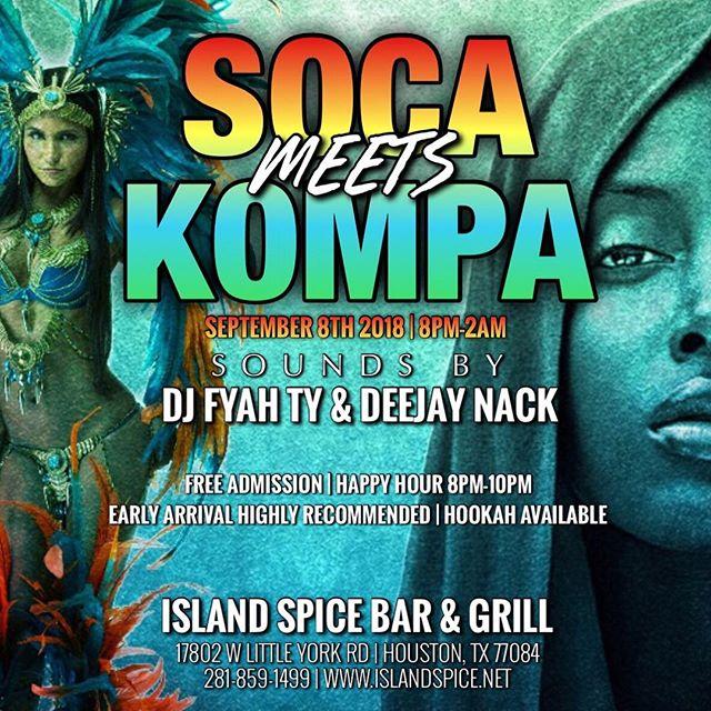 😎🔥🎧 @deejaynack x @fyahty  9.8.18 Island Spice Bar & Grill  Soca Meets Kompa #endlessalliance #deejaynack #endlessallianceteam