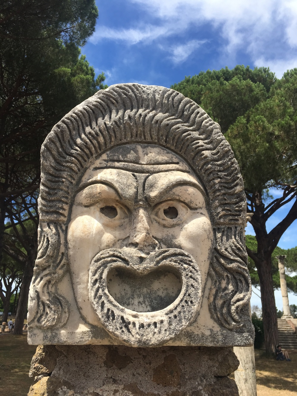 These guys were right next to the theater. Conflicting reports: Either they symbolized areas where residents could speak freely and voice concerns about Ostia, or they simply represented drama and theater. Either way, they were awesome.