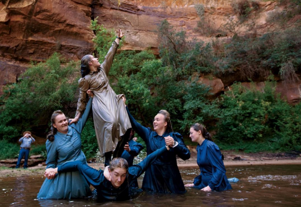 Young female members of the Fundamentalist Church of Jesus Christ of Latter-Day Saints play in a pond in Utah, captured by Steph Sinclair. Sinclair's stunning full photo editorial for National Geographic is available on their website (I personally highly recommend a squiz).