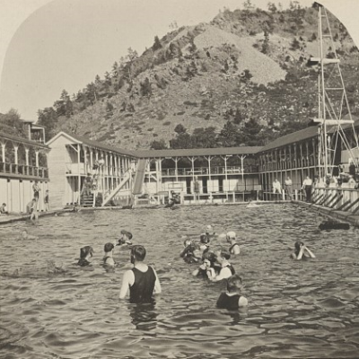 Swimming Pool Elderado (sic) Springs Colo. c. 1900.  Stereograph. Retrieved from the Library of Congress. <www.loc.gov/item/2018645686/>.