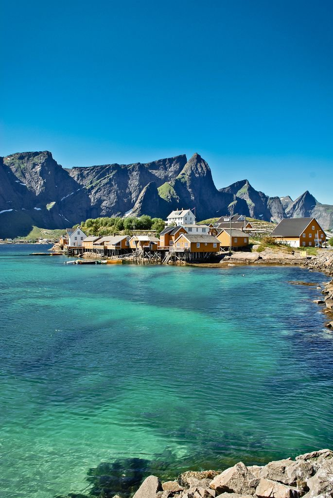 The    Lofoten Islands    in Norway is home to the worlds largest deepwater coral reef. Who doesn't love otters and moose?