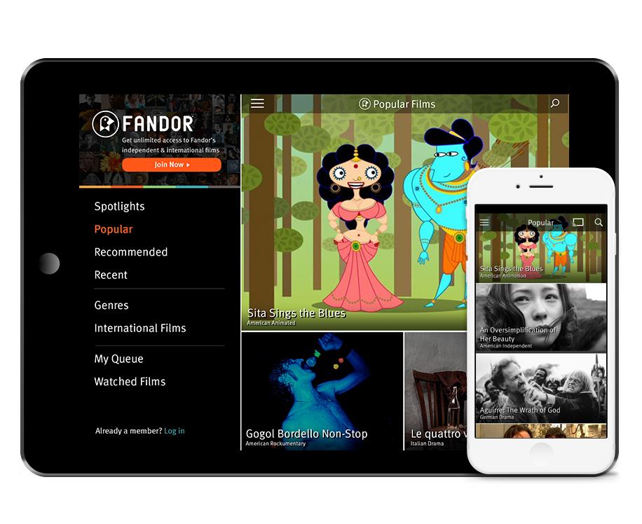 Fandor iOS app