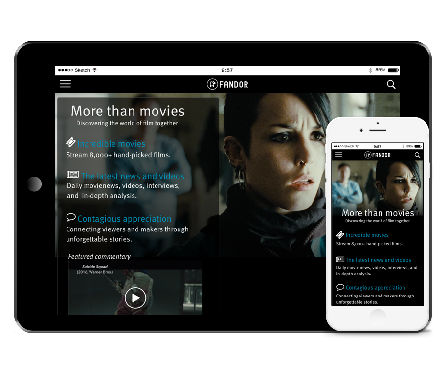 Fandor Mobile Pages