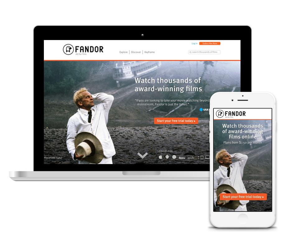 Fandor Guest Landing Page Test