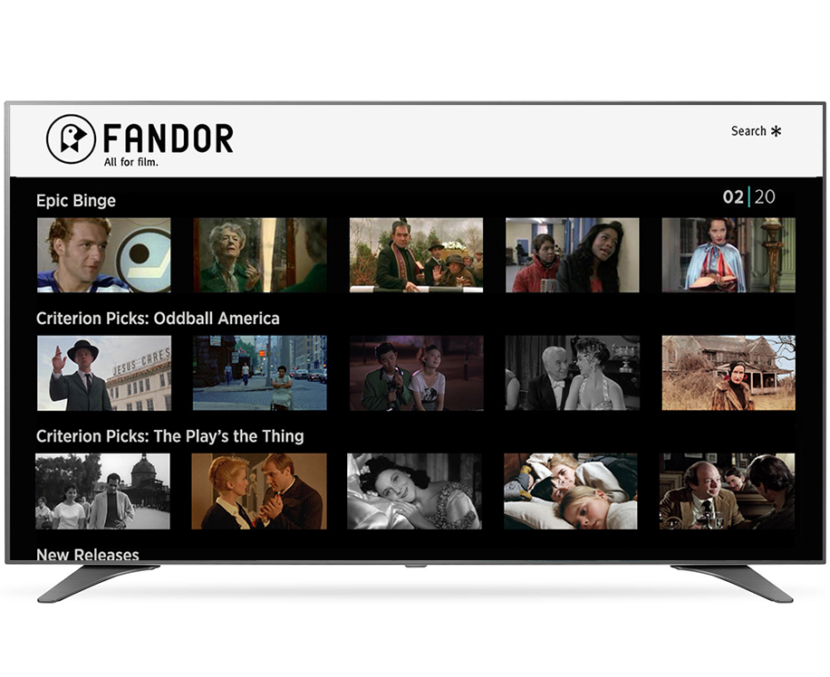 Usability changes for Fandor Roku Channel