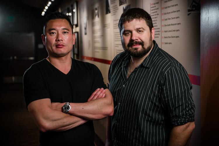 Producer and owner of Fueled Creative Bret Nielsen with business partner Stefan scherperel