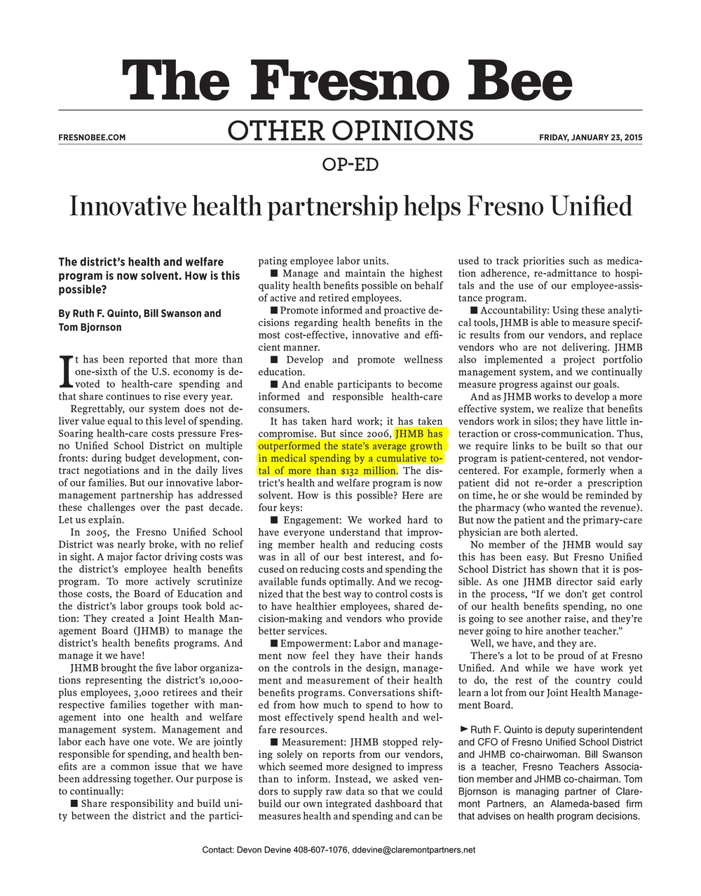 Innovative health partnership